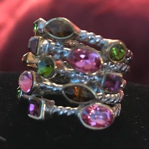 Jewelry - CONFETTI CABLE 5-ROW MULTI-STONE RING